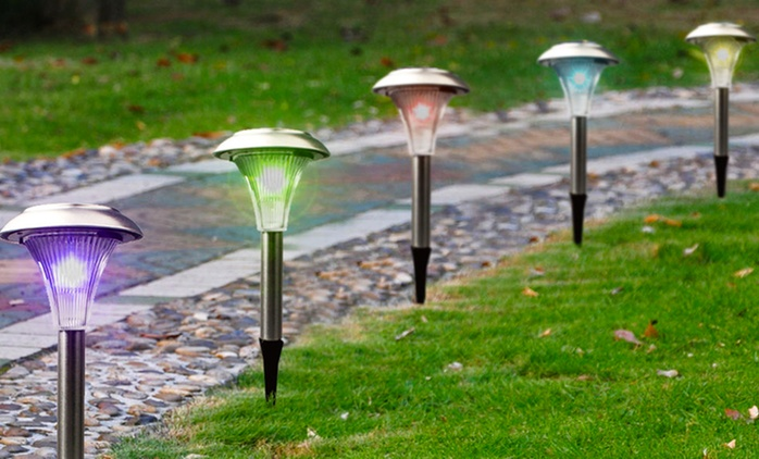 Solar Garden Color-Changing Path Lights (8-, 12-, or 24-Pack)