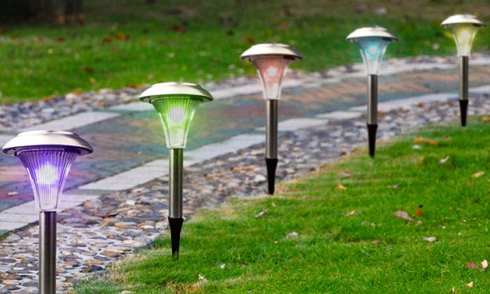 Solar Garden Color Changing Path Lights 8 12 or 24 Pack