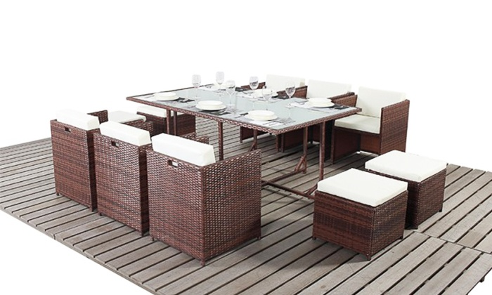 Groupon Goods Global GmbH  Rattan Effect Garden Furniture from  299 99 With  Free Delivery. Rattan Garden Furniture  58  Off    Groupon Goods