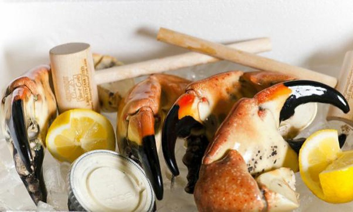 George Stone Crab: Home Delivery of Fresh Stone Crab Claws from George Stone Crab (Up to 50% Off). Two Options Available.
