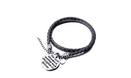 Menpura The Love Between a Mother and Daughter is Forever Hand stamped Bracelet