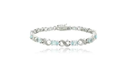 Gemstone Infinity Bracelet