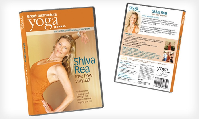 Shiva Rea Free Flow Vinyasa Yoga DVD: $7 for a Yoga Journal Shiva Rea Free-Flow Vinyasa DVD ($12.99 List Price).