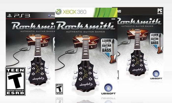 Rocksmith Learn Guitar and Bass with Cable: Rocksmith Learn Guitar and Bass with Cable for Xbox 360, PlayStation 3, or PC. Free Returns.