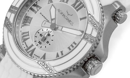 meilleur service achats pas cher pour réduction Montre de la marque Aquaswiss ornée de 22 diamants, Verre ...