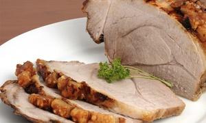 Comidas Caseras: $589 en vez de $1675 por pernil de cerdo o carne + 30 panes + salsas + escabeche + sándwiches en Comidas Caseras