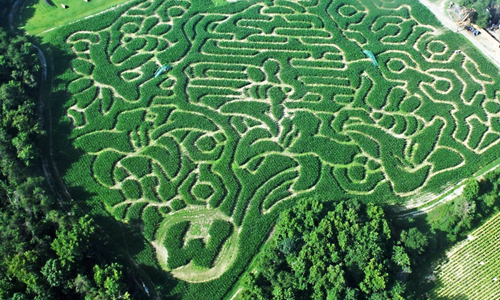 Kersey Valley - Jamestown: Two or Four General Admission Corn-Maze Tickets at Kersey Valley (36% Off)