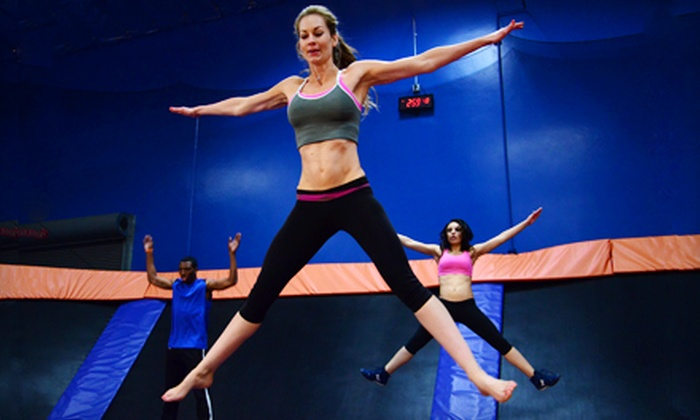 Sky Zone Riverside - Riverside : $24 for a Two-Hour Trampoline-Park Open Jump Package for Two with Soft Drinks at Sky Zone Riverside ($53.50 Value)