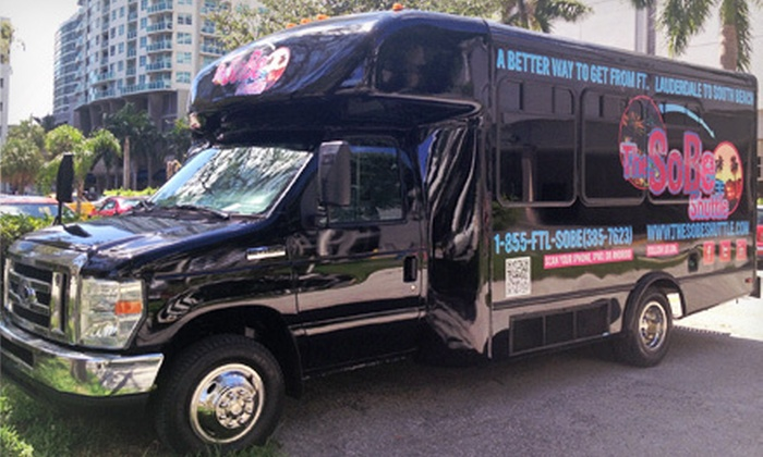 The SoBe Shuttle - Multiple Locations: Round-Trip Transportation for One, Two, or Four Between Fort Lauderdale and Miami from The SoBe Shuttle (Half Off)