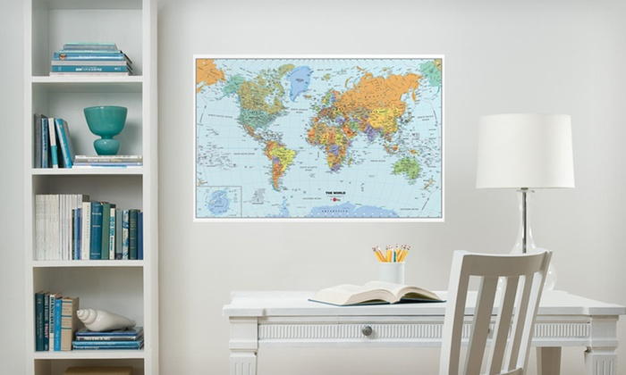 """$12.99 for a 24""""x36"""" WallPops Dry-Erase Map. Multiple Maps Available. Free Returns"""