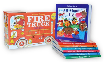 Children's Richard Scarry Fire Truck 8-Book Box Set