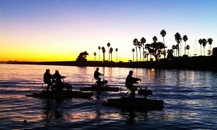 Long Beach Hydrobikes - Belmont Shore: One-Hour Daytime, Sunset, or Nighttime Hydrobike Rental for One or Two at Long Beach Hydrobikes (Up to 45% Off)