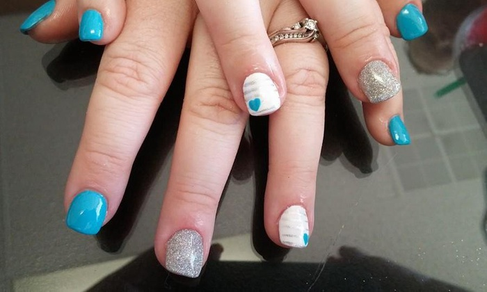 Rockstar Hair and Nails - Crown Point: No-Chip Manicure and Pedicure Package from Rockstar Hair & Nails (50% Off)