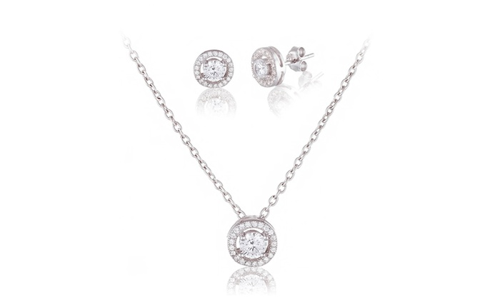 Swarovski elements jewelry set groupon goods pendant and earrings set with swarovski elements crystals aloadofball Image collections