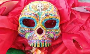 Papier-mâché A Day Of The Dead Mask (40% Off)