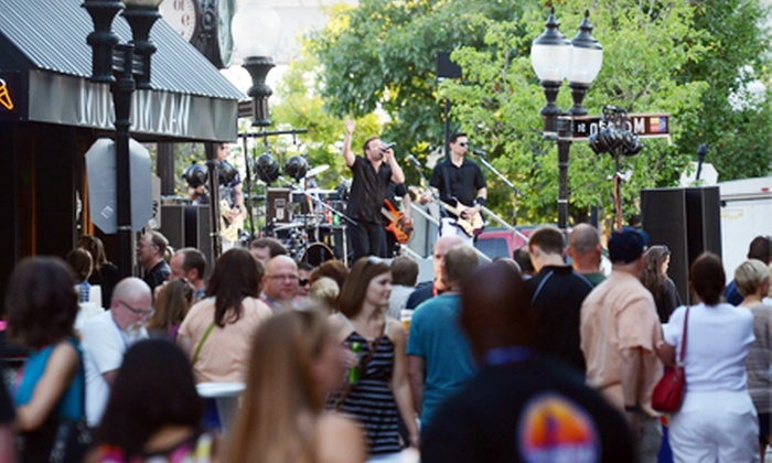 "Laclede's Landing ""Kick It On The Cobblestones"" Block Party - Saint Louis: Visit for Two or Four to Laclede's Landing ""Kick It On The Cobblestones"" Block Party on Saturday, August 10 (38% Off)"