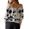 Women's Floral Off-the-Shoulder Shirt