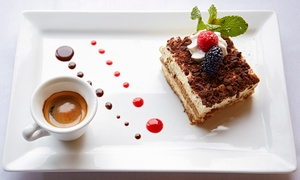 Blue Ice Cafe and Bar: Dessert with Tea or Coffee for Two ($15) or Four ($29) at Blue Ice Cafe and Bar, Fortitude Valley (Up to $75 Value)