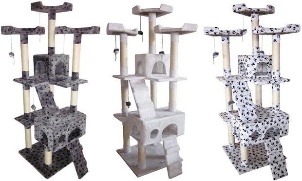 katzenkratzbaum mittelhoch groupon goods. Black Bedroom Furniture Sets. Home Design Ideas
