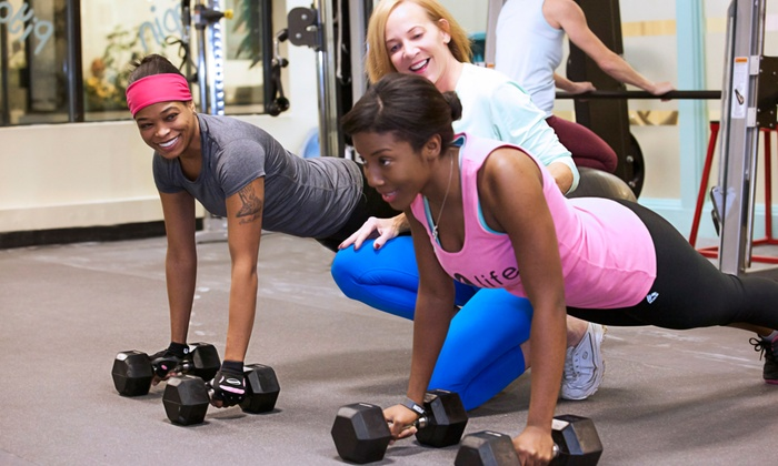 fit4life health club - Multiple Locations: 10 or 15 Fitness Classes, or One- or Three-Month Membership to fit4life health club (Up to 87% Off)