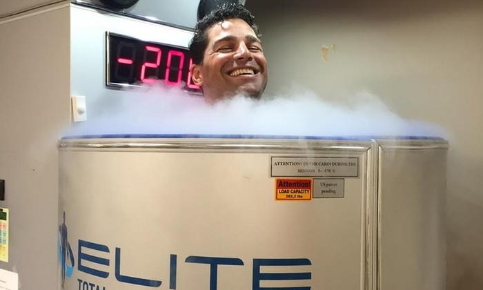 Elite Total Body Cryotherapy - Elite Total Body Cryotherapy: One, Three, or Five Cryotherapy Sessions at Elite Total Body Cryotherapy (Up to 67% Off)