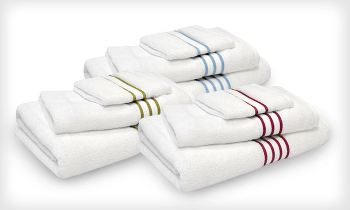 Six-Piece Pima-Cotton Towel Set: $44.99 for a Six-Piece Pima-Cotton Towel Set ($74.99 List Price). Eight Colours Available.