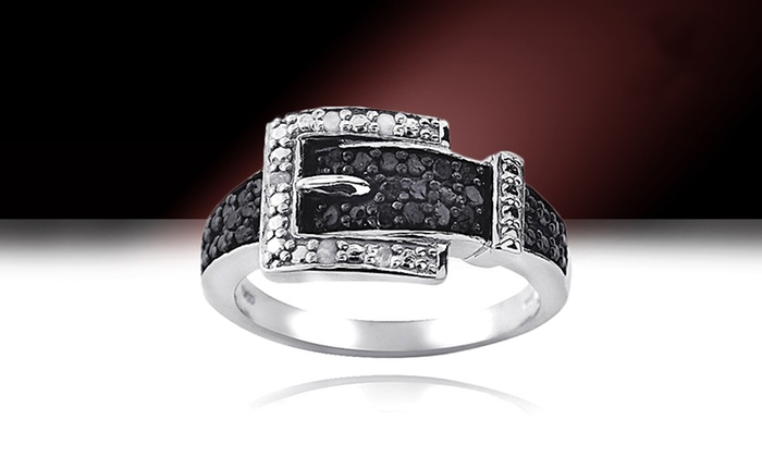 Sterling Auto Group >> 1/4 CTTW Diamond Buckle Ring | Groupon Goods
