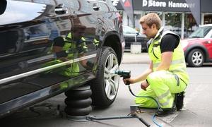 Reifen-Technics: Radwechsel stationär oder mobil inklusive Basis-Reifencheck, opt. plus Innenreinigung, von Reifen-Technics