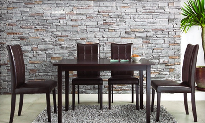 Five-Piece Dining Set: $349 for a Baxton Studio Five-Piece Modern Dining Set. Shipping Included ($760 Total Value).