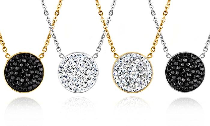 Elya Designs Crystal-Disc Necklaces: Elya Designs Crystal-Disc Necklaces. Multiple Designs Available. Free Shipping and Returns.