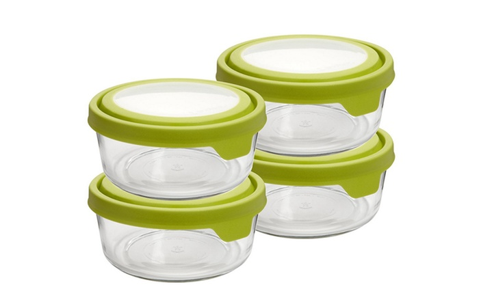 Set of 4 Anchor Hocking 7-Cup Round TrueSeal Glass Storage Containers: Set of 4 Anchor Hocking 7-Cup Round TrueSeal Glass Storage Containers. Free Returns.