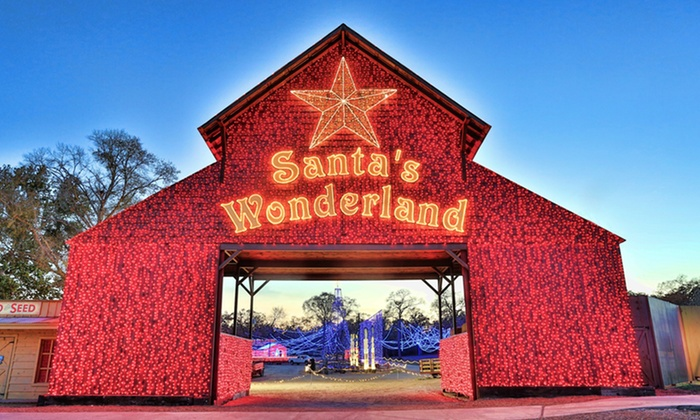 Santa's Wonderland - A Texas Christmas Experience - College Station: Santa's Wonderland Admission with Hayride, Train Ride, and Activities for Two or Four (Up to 32% Off)