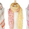 Spring Floral- or Snakeskin-Print Scarves
