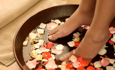 Divinity Pedicure or Gel Manicure with Divinity Pedicure at Divines Destiny Spa (Up to 44% Off)