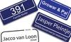 Streetsign - Dordrecht: Personnalisez votre plaque à partir de 19,95 €