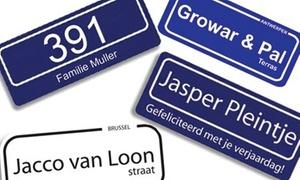 Streetsign: Maak je eigen gepersonaliseerd (straat)naambord vanaf € 19,95