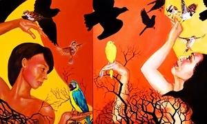 """Daria Amerik Fine Art: One 12""""x16"""", 16""""x20"""", or 18""""x24"""" Custom Portrait from Daria Amerik Fine Art (Up to 58% Off)"""