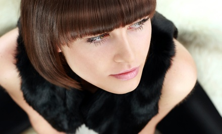 Haircut, Shampoo, Style, and Blow-Dry with Optional Partial Highlights at J. Charnay Salon Studio (55% Off)