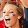 NCAA School Spirit Face and Nail Stick-Ons