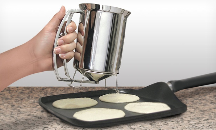 Chef Buddy Pancake Batter Dispenser: Chef Buddy Pancake Batter Dispenser. Free Returns.