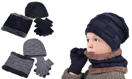 1 o 2 conjuntos de gorro, guantes y bufanda para niño