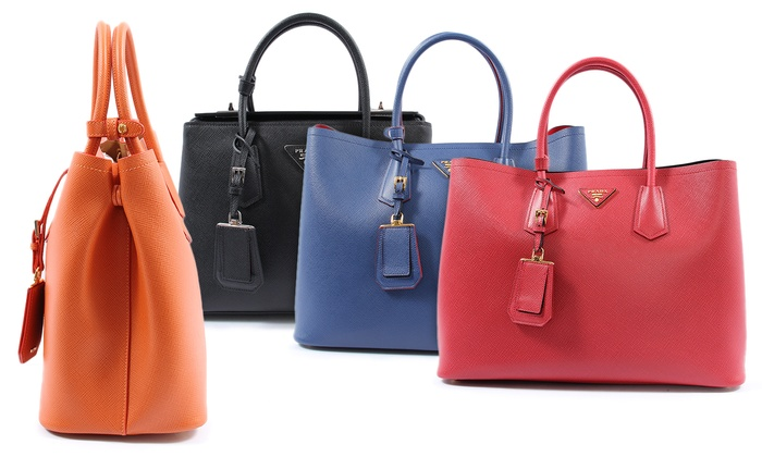 prada red leather bag - Prada Handbags | Groupon Goods