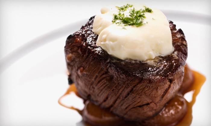 Jaxx Steakhouse - Midway Square: Steakhouse Fare at Jaxx Steakhouse in Addison (Half Off). Two Options Available.