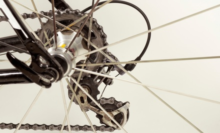 One Basic Bike Tune-Up or One Elite Bike Tune-Up at The Hub (Up to 56% Off)