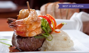 Olive Tree Lounge: Surf and Turf Meal For Two (£29) or Four (£57) at Olive Tree Lounge (Up to 50% Off)
