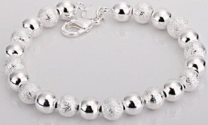Petalouda: Sterling Silver Bead Bracelet or C$10 for C$20 Worth of Jewelry and Accessories at Petalouda