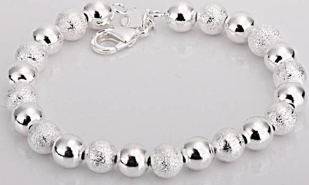 Sterling Silver Bead Bracelet or $9 for $20 Worth of Jewelry and Accessories at Petalouda