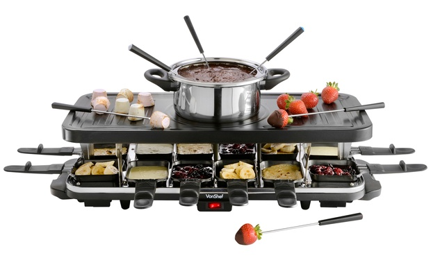vonshef raclette grill groupon goods. Black Bedroom Furniture Sets. Home Design Ideas