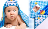 Toallita personalizada con capucha para bebé