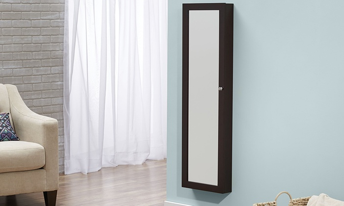 Over The Door Or Wall Hang Jewelry Armoire Groupon